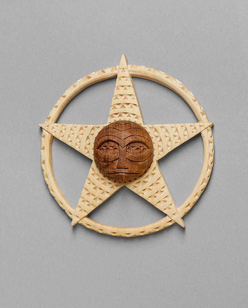 Miniature Panel depicting a Star by Greg A. Robinson, Chinook Nation