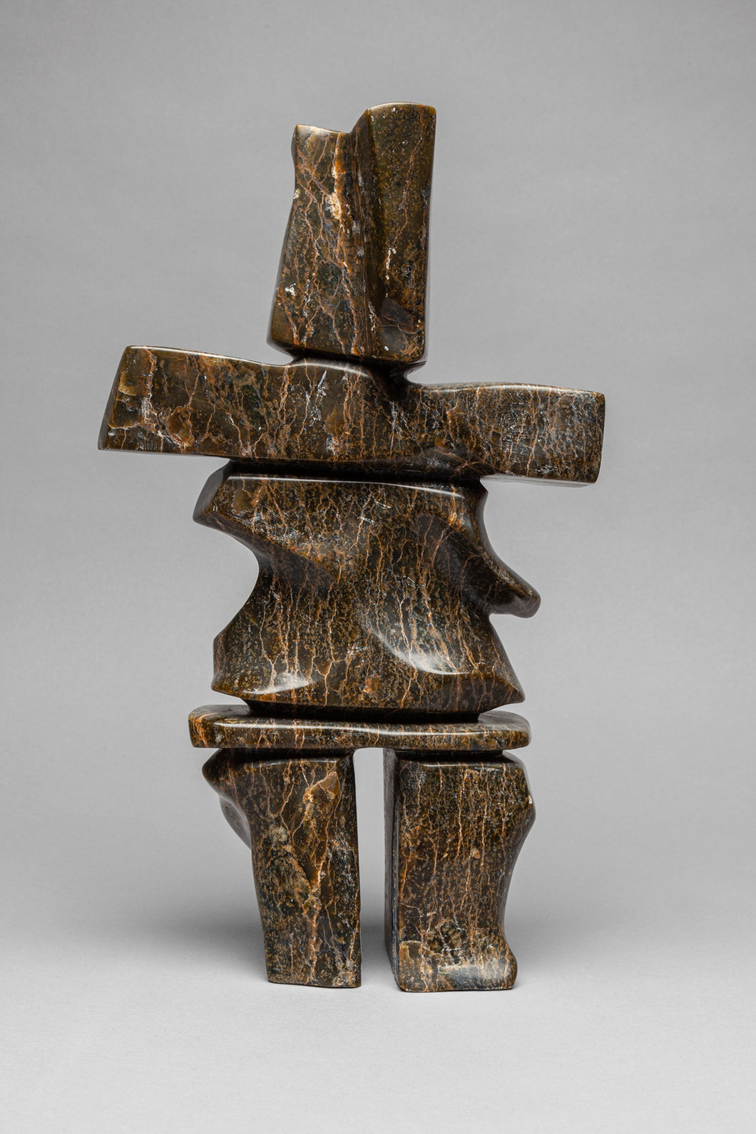 Inukshuk (Image of Man) by Isaac Oqutaq, Inuit
