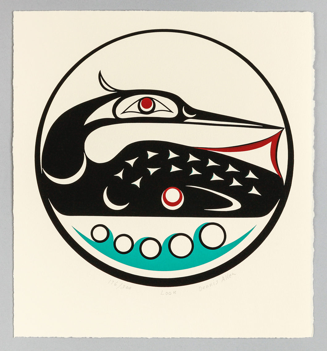 Framed Print: Loon by Dennis Allen, Skokomish Nation
