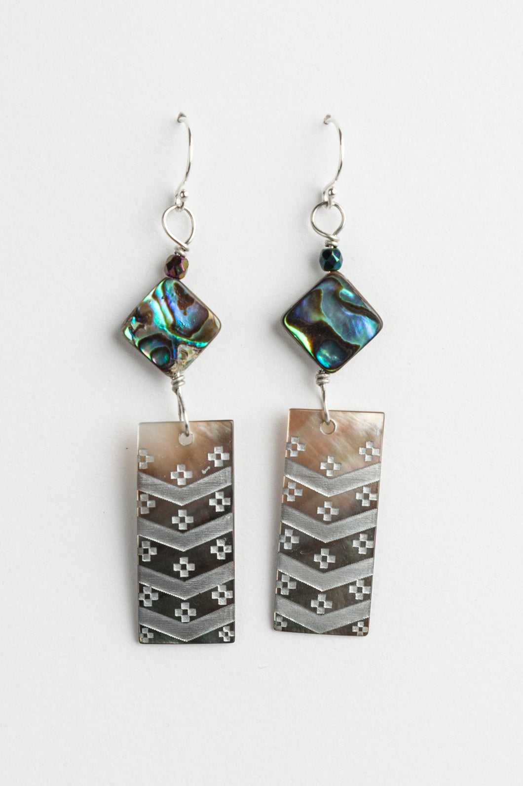 Skokomish Basket Design Earrings