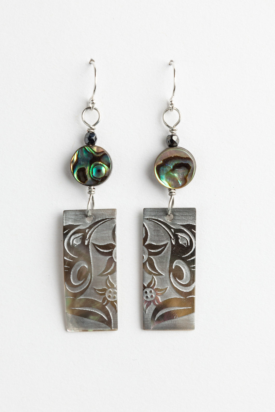 Skokomish Hummingbird Design Earrings