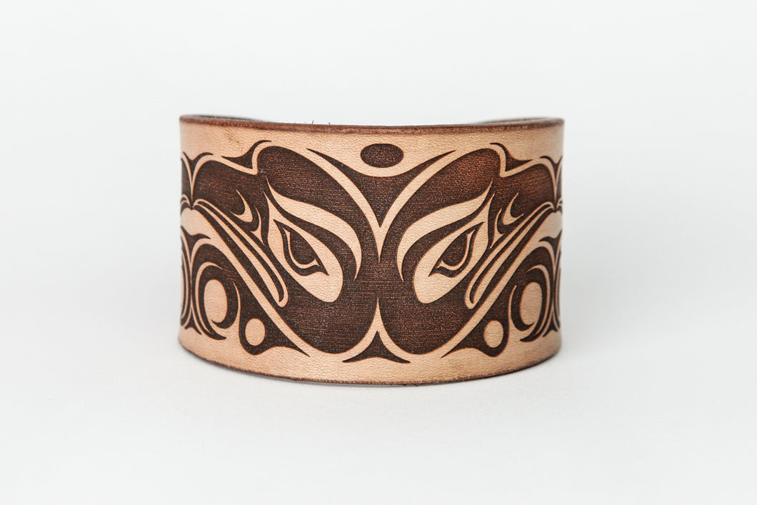 Eagle Design Leather Bracelet by Ruth Wilbur Peterson
