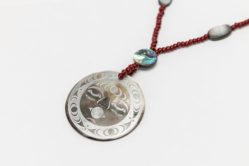 Grandmother Moon Pendant by Malynn Wilbur Foster, Skokomish