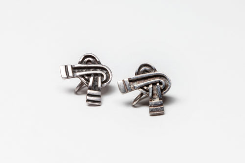 Vintage Knot Design Earrings by Margot de Taxco, Mexico
