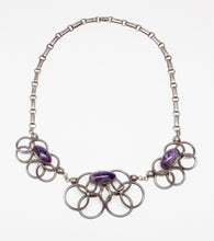 Vintage Necklace with Amethyst by Raphael Melendez (1911-1980), Mexico