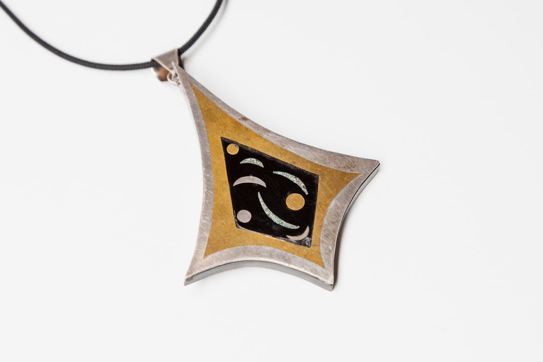 Vintage Pendant with Moon Designs by Stella Popowski (1931-2008), Mexico