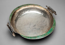 Sterling Silver Bowl with Malachite Inlay by Emilia Castillo, Mexico