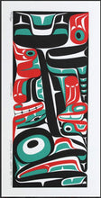 Framed Print: Salmon by Mark Preston, Tlingit Nation