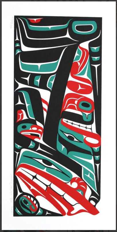 Framed Print: Wolf by Mark Preston, Tlingit Nation