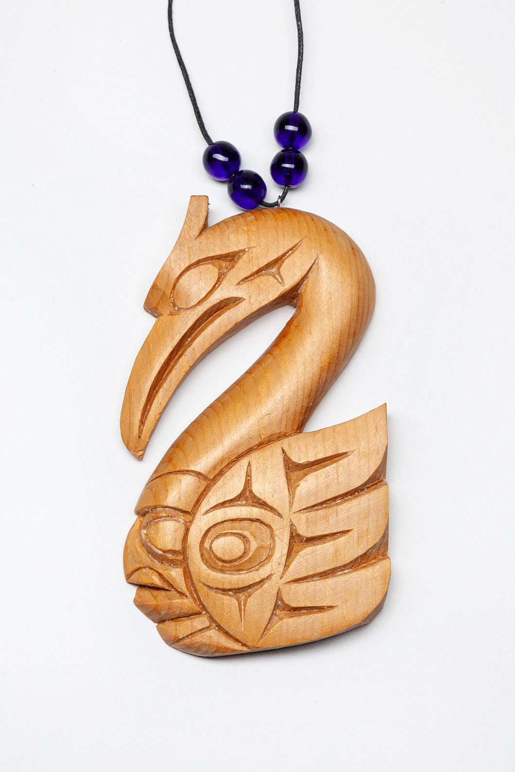 Northwest Coast Swan Pendant by Doug Horne, Coast Salish Nation