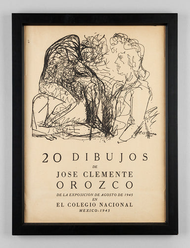 Hand Signed Title Page from the Portfolio 20 Dibujos de Jose Clemente Orozco