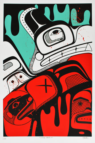 Collector Print: Outside Looking In by KC Hall, Heiltsuk