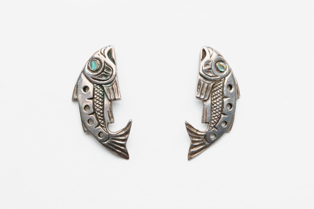 Northwest Coast Salmon Earrings by Patty Fawn