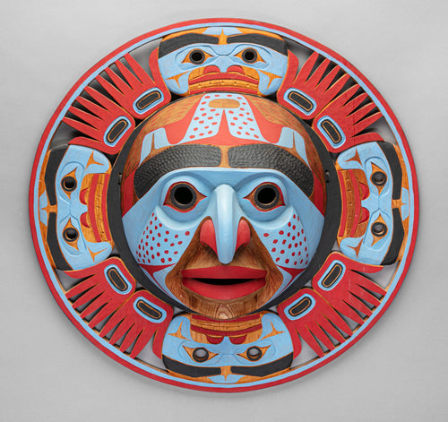 Bella Coola Style Sun Mask, c. 1980 by Lelooska (1933 - 1996)