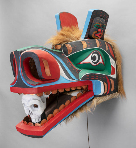 Mask Depicting Grizzly Bear, c. 1980 by Lelooska (1933 - 1996)