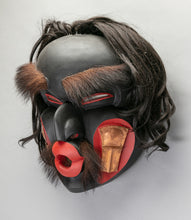 Mask depicting Dzunukwa with Coppers, c. 1980 by Lelooska (1933 - 1996)