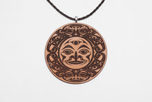 Salmon Moon Leather Pendant by Ruth Wilbur Peterson