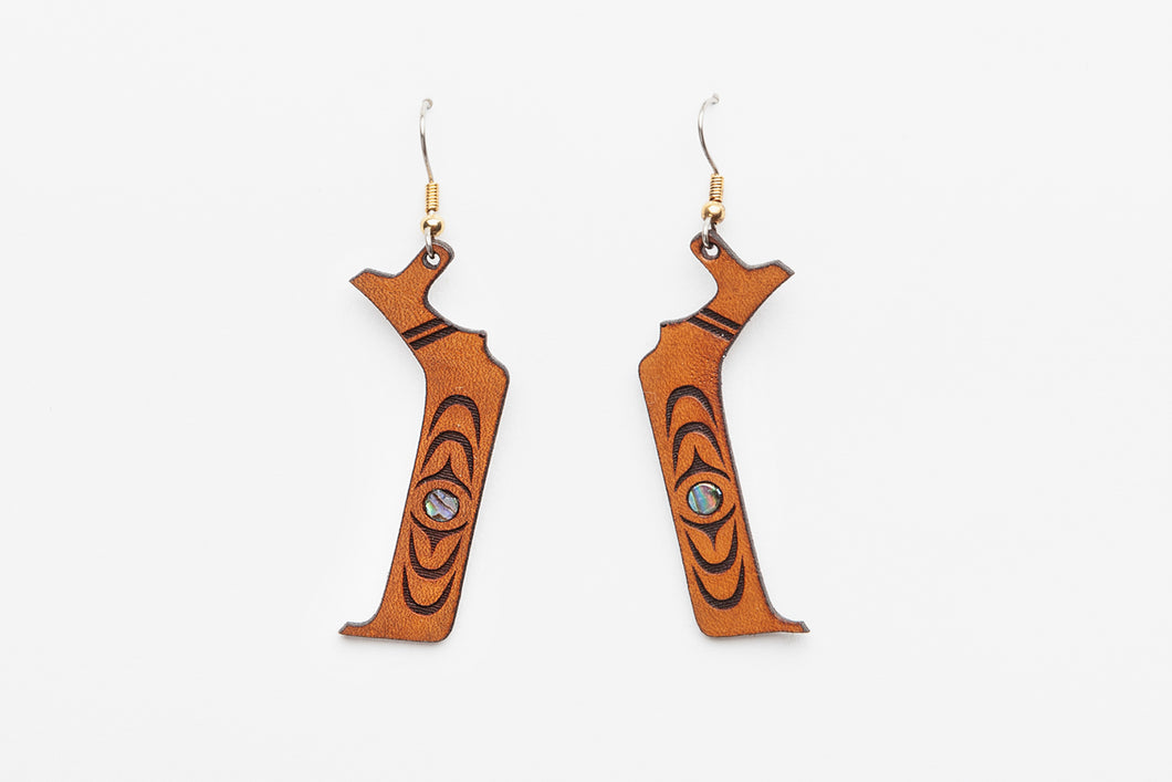 Canoe Earrings by Ruth Wilbur Peterson