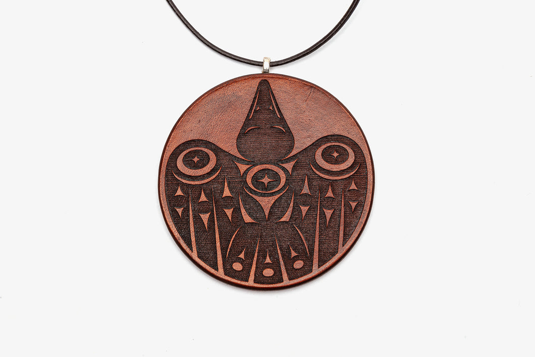 Baby Raven Leather Pendant by Ruth Wilbur Peterson