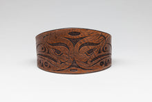 Leather Bracelet with Double Eagle Design by Ruth Wilbur Peterson