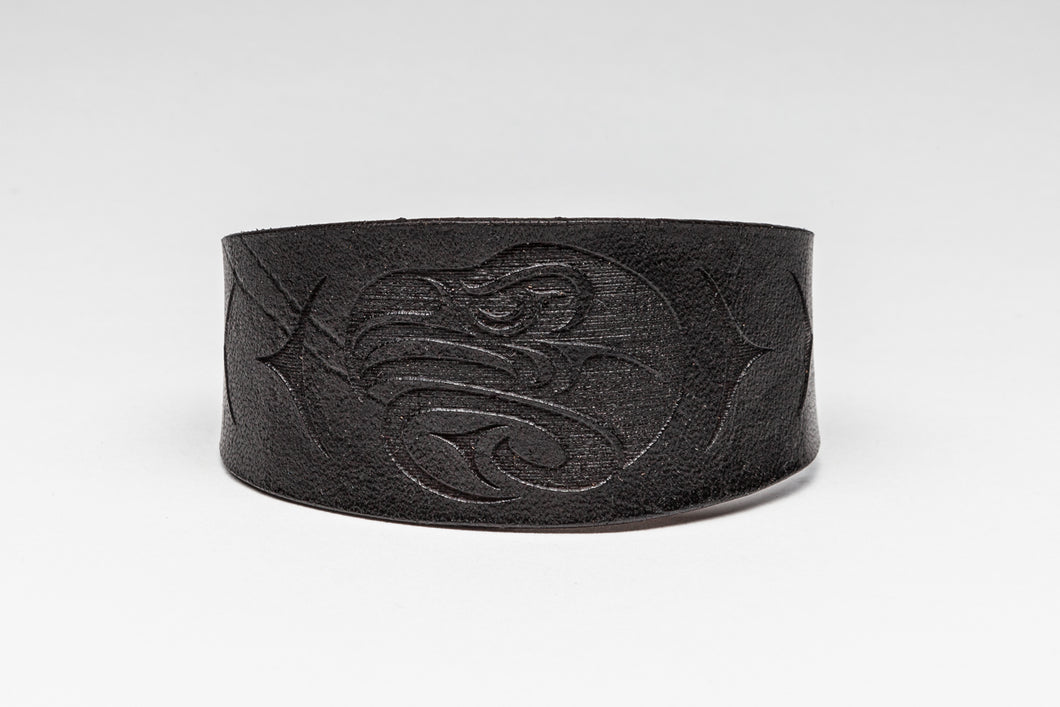 Leather Bracelet with Eagle Design by Ruth Wilbur Peterson
