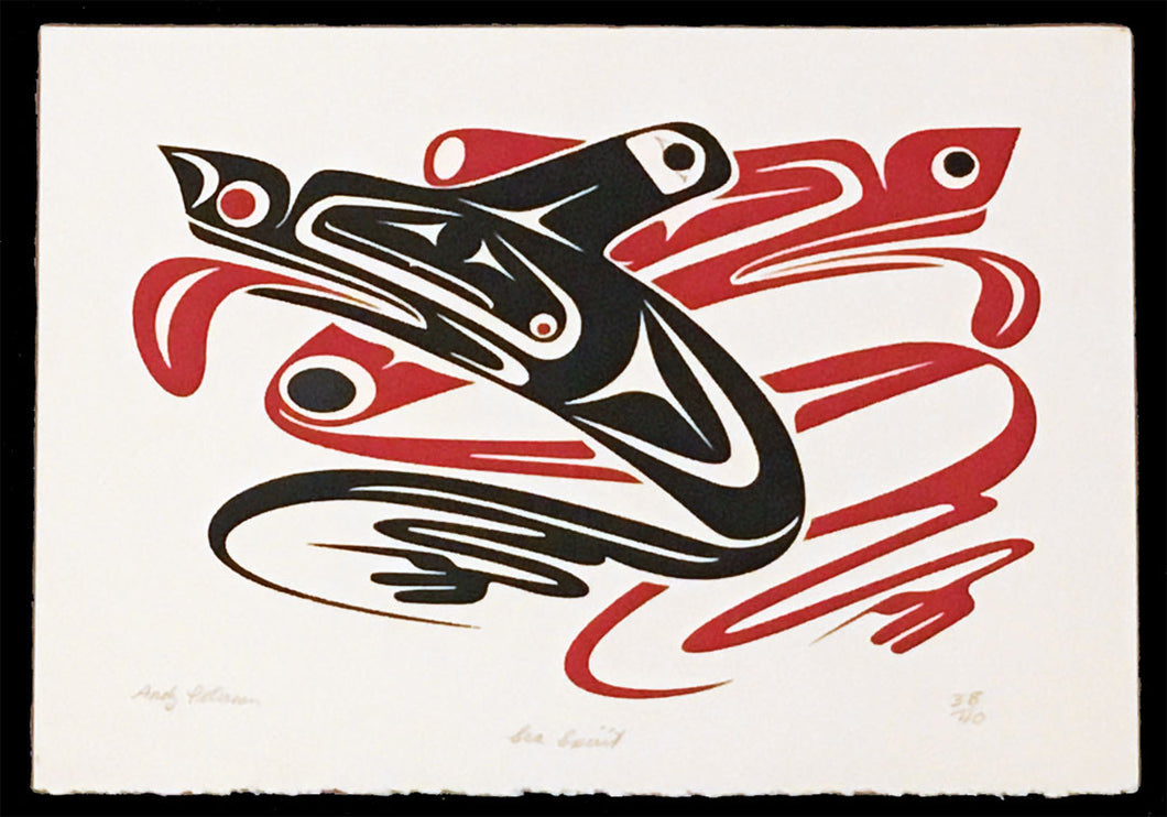 Sea Spirit, Silkscreen Print by Andy Wilbur Peterson, Skokomish Nation