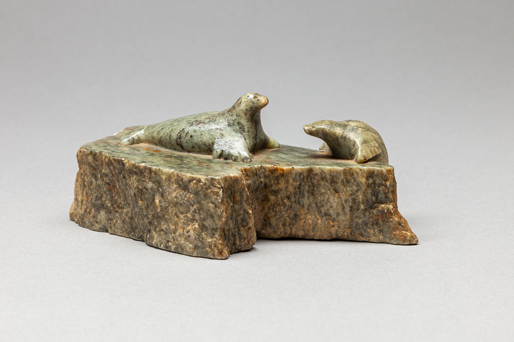 Soapstone Seal Carving, Yupik