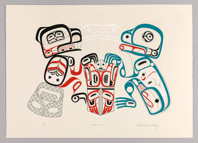 Waab-Hit (Beaver and Frog Holding Copper) by David Robert Boxley, Tsimshian Nation