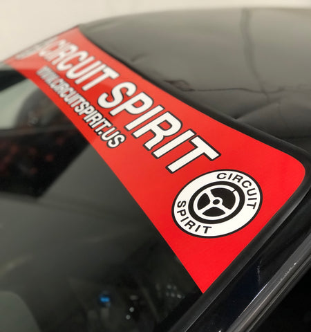 Circuit Spirit Windshield Banner