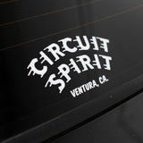"Circuit Spirit Speed logo 6"" Die Cut Decal"