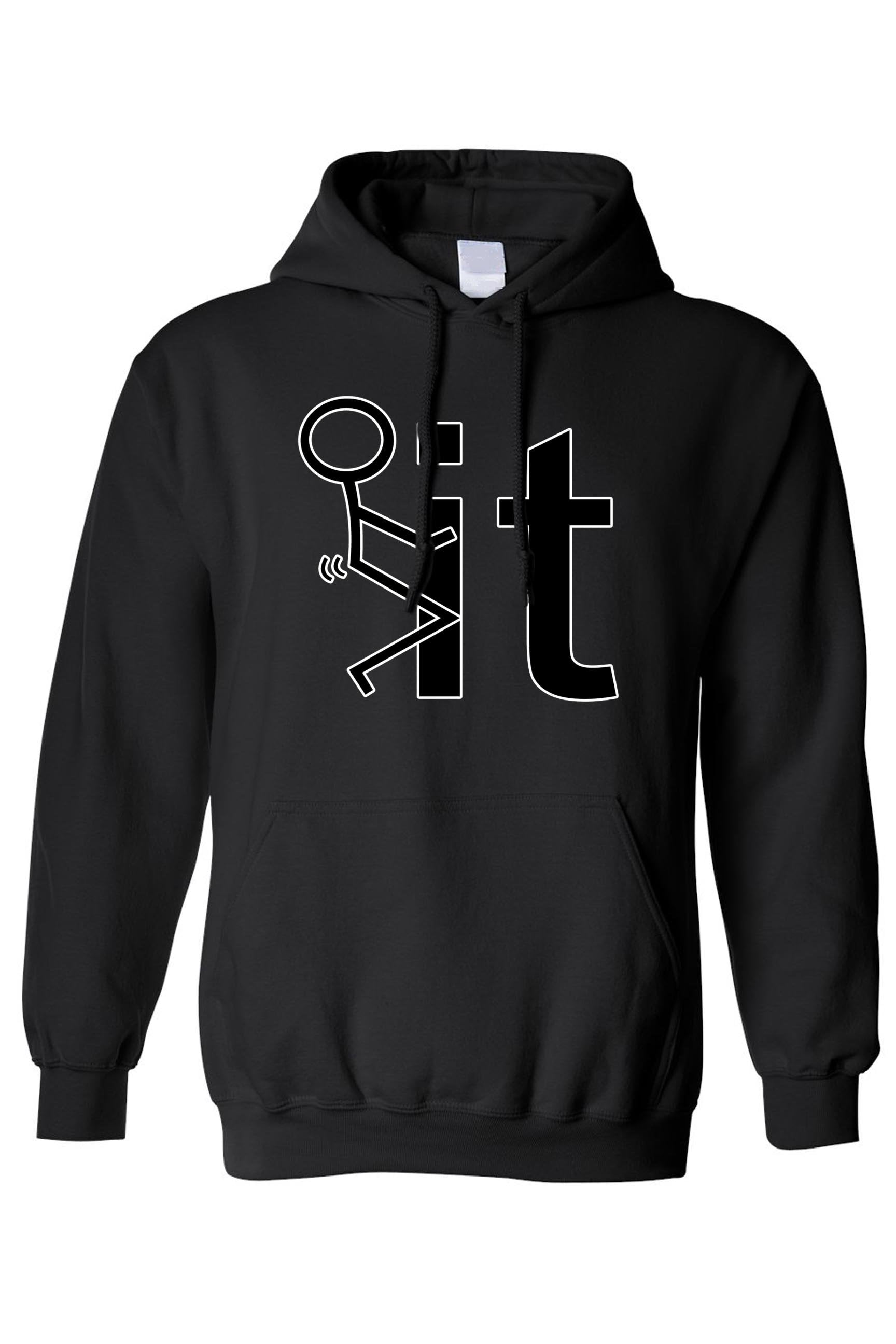 Unisex Stick Figure F*ck It Pullover HOODIE