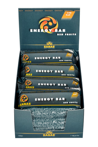 Sanas Red Fruit Energy Bar 12 Pack