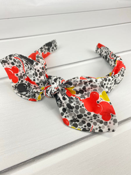 Main Mouse Balloon Confetti Tie Headband