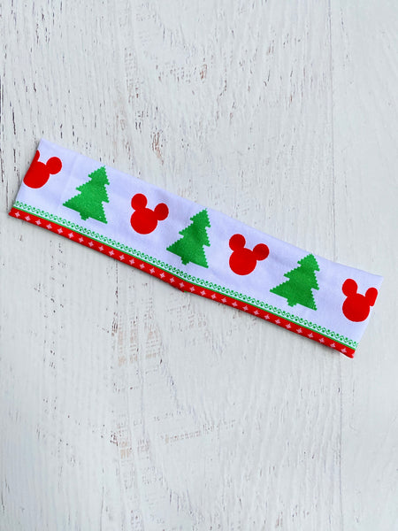 Christmas Mouse Stretch Headband