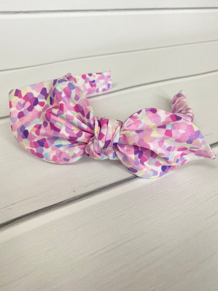 Grape Soda Confetti TIE HEADBAND