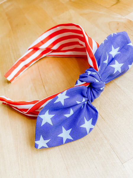Stars + Stripes Tie Headband