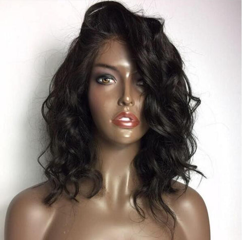 "130 density Carina Natural Weave Short Bob Wigs (14"" in picture)"