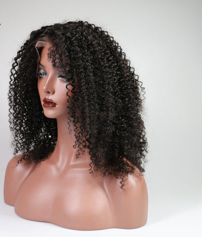 Afro Kinky Curly Full Lace Human Hair Wig