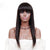 Cathy Straight Brazilian Fringe Lace Front Wig with Bangs