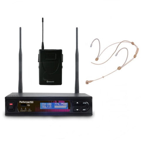 Chiayo PERFORMER-100 H7 High Quality Headset Wireless System Package
