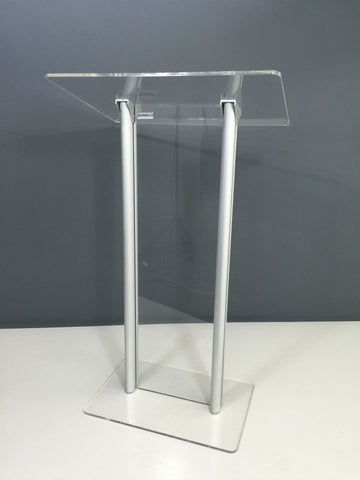 LE-G02 Deacon Acrylic Lectern with metal posts