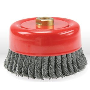 "56052 Jaz USA Twist Knot Wire Cup Brush,6"" Twist knot wire cup brush,Wire.020"""