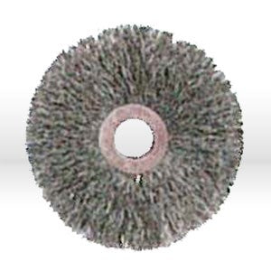 "07756 Jaz USA Crimped Wire Wheel Brush,3"",Small,.014"",Steel"