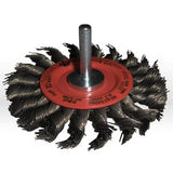 39058 Jaz USA Twist Knot Wire Wheel Brush,3""