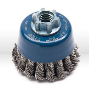 "72082 Jaz USA Twist Knot Wire Cup Brush,2-3/4"",.020"",Steel,Bulk"