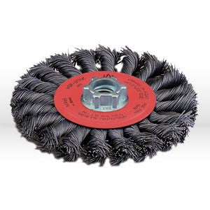 "78052 Jaz USA Twist Knot Wire Wheel Brush,4-1/2"",20 Knots,.020"",Steel"