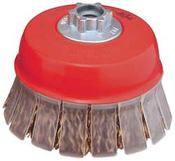 "4"" Crimped Wire Cup Brush with Guard"