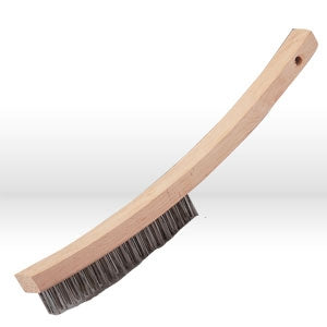 "82310 Jaz USA Hand Scratch Brush,Curved handle 3 Rows,.016"",Steel"