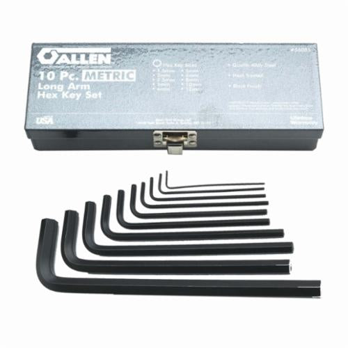 Allen 56320 Metal Fold-Up SAE Hex Key Set, 5 Pieces, Alloy Steel