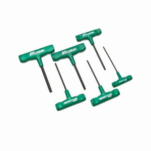Allen Ball-Plus 56131 SAE Standard Length Cushion Grip T-Handle Hex Key Set, 6 Pieces, Alloy Steel